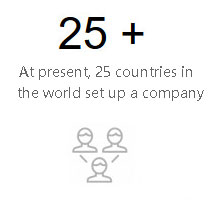 At present, 25 countries in the world set up a company